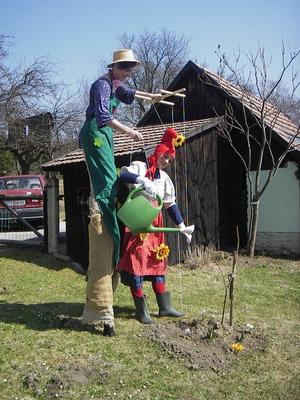 Lebende Marionette / living puppet