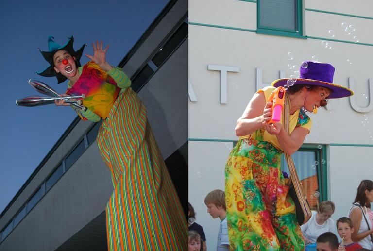 Riesenclowns / giant clowns